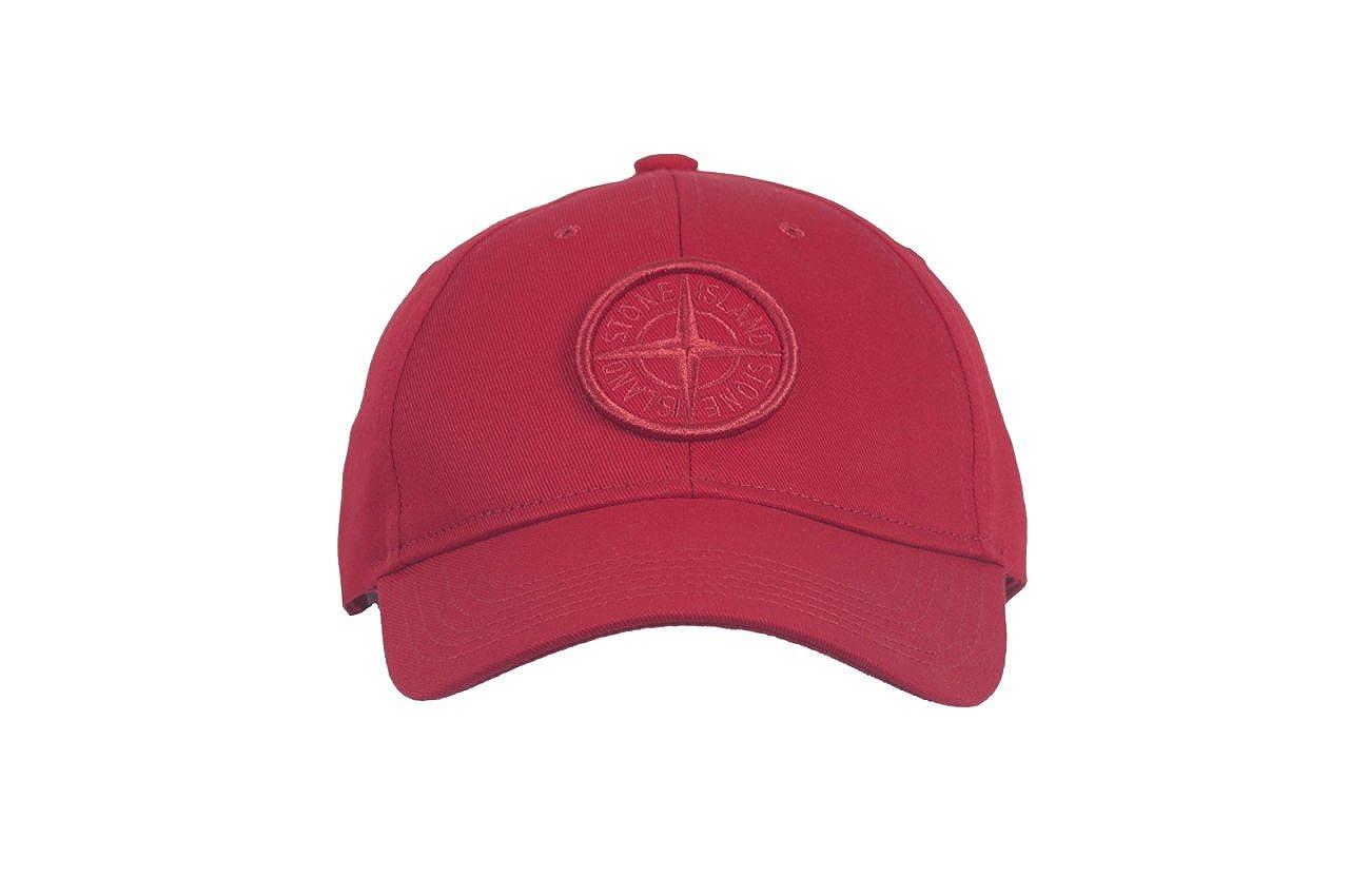 a91566d9a Stone Island Red Red Compass Logo Men`s Baseball Cap at Amazon Men's ...