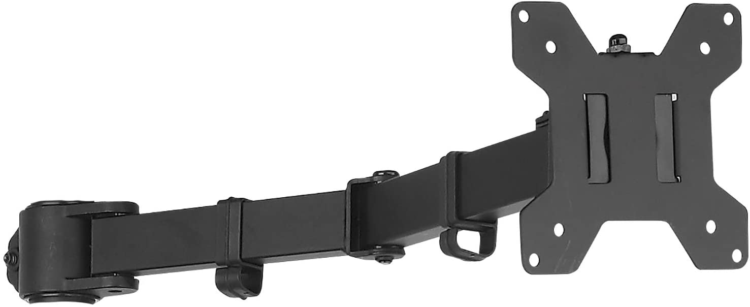 WALI Single Fully Adjustable Arm for WALI Monitor Mounting System (001ARM), Black
