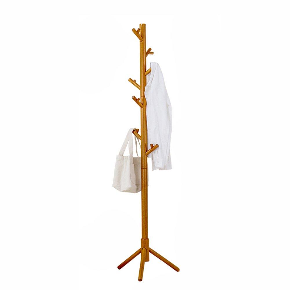 JXJJD Árbol de Perchero de Madera Maciza en el Piso 杈 Percha de Dormitorio Creativo Perchero Grueso para Ropa de Goma de Madera