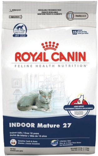 Royal Canin Dry Cat Food, Indoor Mature 27 Formula, 2.5-Pound Bag, My Pet Supplies