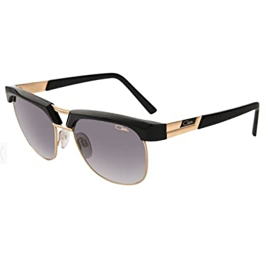 cf691c9a7db Amazon.com  Cazal 9065 Sunglasses 001SG Black-Gold Grey Gradient ...
