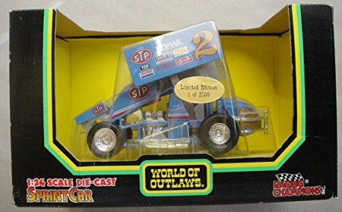 RACING CHAMPIONS WORLD OF OUTLAWS 1:24 SCALE DIE CAST SPRINT CAR LT. BLUE ANDY HILLENBURG #2