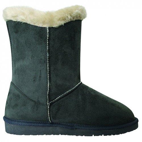 Women's 9 Microfiber Tie Grey Side Boots DAWGS inch Aa6U8x6q