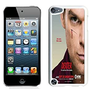 High Quality iPod Touch 5 Case ,Dexter 010 White iPod Touch 5 Cover Unique And Fashion Designed Phone Case