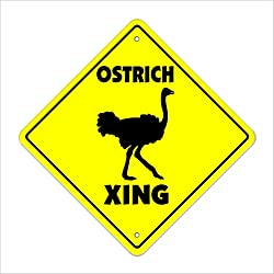 """SignMission Ostrich Crossing Sign Zone Xing 