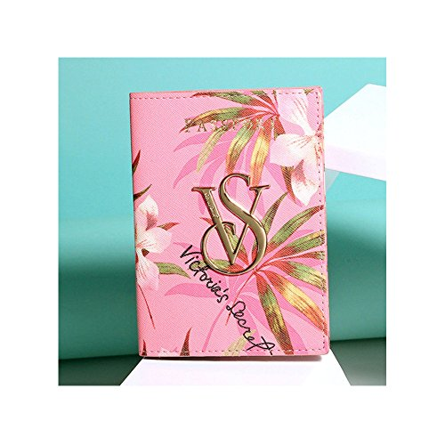 New Victoria Secret Pink Flower Passport Holders Bag Vs Passport Cover Case