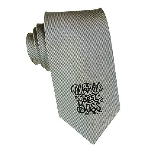 BadBananas - World's Best Boss - Silk Necktie - Best Gifts For Men (Man) - Boss's Day Gift For Manager or Supervisor