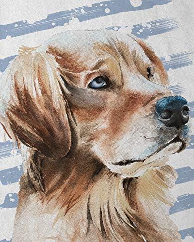 style3 Golden Retriever T-Shirt pour Enfants Chiens /éleveur Animal