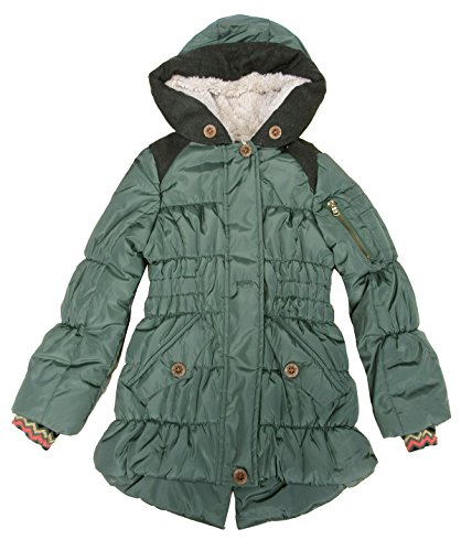 Jessica Simpson Expedition Coat With Faux-Fur Trim, Olive Drab Small 7-8 by Jessica Simpson