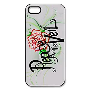 jany store123 store Custom pierce the veil black plastic Case for 3D iphone 5 cover