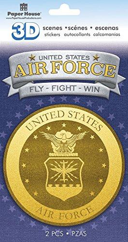 Paper House Productions STDM-0814E 3D Cardstock Stickers, Air Force Emblem