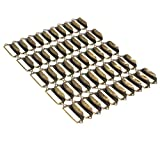 WEICHUAN 50 Pieces 69mm*29mm Card Holder Drawer Pull/Label Frames Card/Label Holder/Tag Pull/Cabinet Frame Handle/File Name Card Holder - Metal Art Bronze Tone with screws
