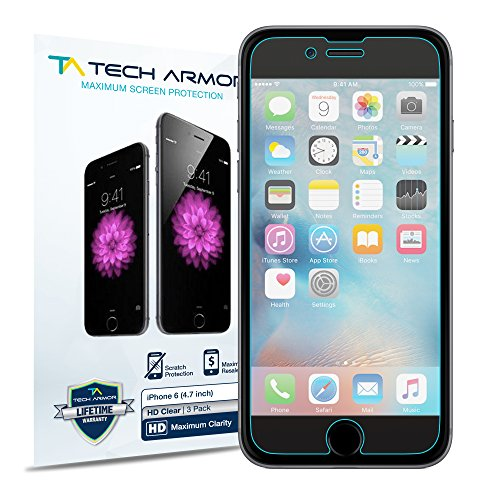 iphone 6 screen protector iphone 6s screen protector tech armor high definition hd 15075