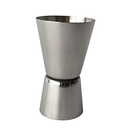 Stainless Steel Double-Sided Measuring Cup Jigger Measurer Cocktail Bartender Drink Mixer Liquor Measuring Cup