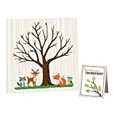 Lillian Rose 24BS230 GA Woodland Baby Shower Guest Signing Canvas, Neutral, 11.75""