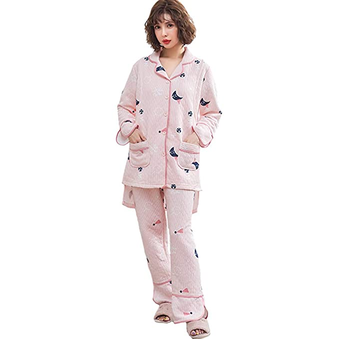 92de9861e KINDOYO Mujer Lactancia Pijamas Cálido Conjunto - Lindo Posparto  Amamantamiento Ropa para Dormir Maternidad Ropa  Amazon.es  Ropa y  accesorios