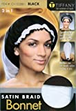 Tiffany Satin Braid Bonnet - 2 in 1
