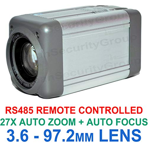 USG Analog Box Camera : Sony Chipset 700TVL All-In-One 3.6-97.2mm Lens 27x Auto-Zoom + Auto-Focus Box Security Camera: RS485 Control, Enhanced Effio-E, Low Illumination