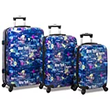 Rolite Lumos Night Lights 3-Piece Lightweight Hardside Spinner Luggage Set, Destination