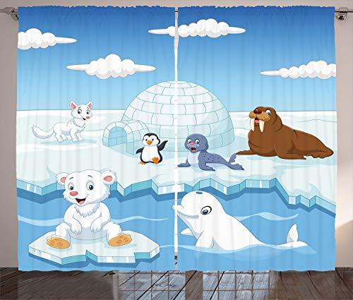 Ambesonne Animal Curtains Image
