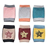 Simplife Newest Baby Knee Pads, Breathable Anti-Slip Elastic Adjustable Crawling Knee Pads for Unsex Toddlers Kids (6 Pairs)