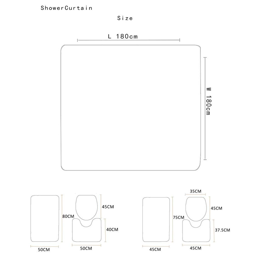 CYHY Lion 4-teiliges Badezimmer-Set, WC Deckel Abdeckung Sockel WC WC WC Bad Rutschfeste Teppich Teppich und wasserdichter Duschvorhang mit 12 Haken (Farbe   1, Größe   17.7 x 29.5 ) B07QDBCSVX Duschmatten 2b3353