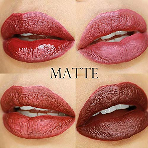 Matte Liquid Lipstick Set, Niceface 4 Colors Waterproof Long Lasting Lipsticks Non-Stick Cup Lip Gloss