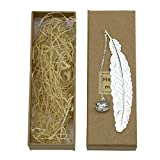 Cimostar Classical Exquisite Feather Metal Bookmarks