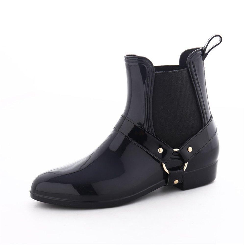 Wagsiyi Wagsiyi Wagsiyi Regenschuhe PVC-Damen-Regenstiefel-Erwachsene Wasserdichte Stiefel-Frauen-Laborversicherungs-Wasser-Schuhe Anti-Rutsch-Regenstiefel (Größe   39 1 3 EU) 93f46e