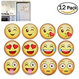 OUNONA 12Pcs 3D Refrigerator Magnets Fridge Magnets Funny Magnets for Refrigerator/Whiteboards,1.8inch