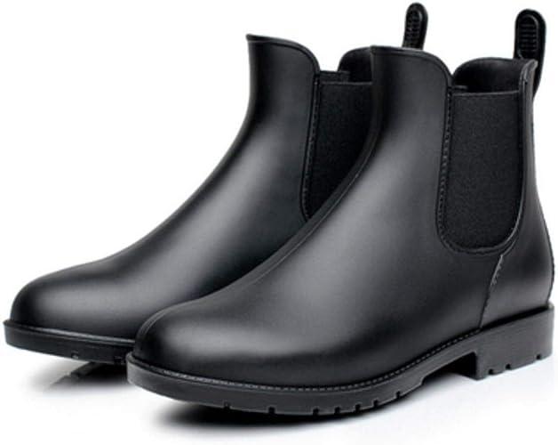 Rain Boots Black Chelsea Boots