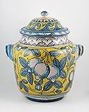 Handmade Italian Ceramic Big Jar by L'Antica, Deruta