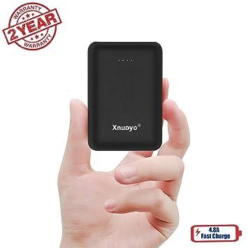 Xnuoyo Cargador Portátil, Mini Power Banks Ultra Compacto de 10000 mAh con Entrada Doble y Paquete de Baterías Externas de Salida Compatible con la Mayoría ...