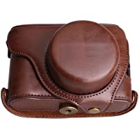 ANYI PU Leather Case for FUJI X100F Compatible for fuji X100S X100T X100 Protective Cover (coffee)