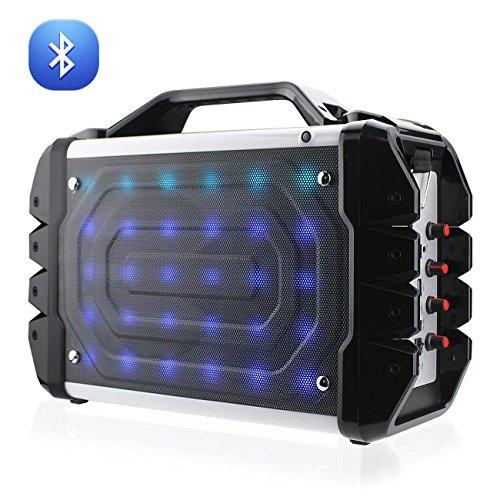 Reiko Wireless UNIVERSAL BOOMBOX BLUETOOTH NEON COLORED SPEAKER IN BLACK