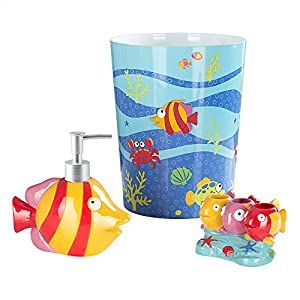 51pngew-pEL._SS300_ 70+ Beach Bathroom Accessory Sets and Coastal Bathroom Accessories 2020