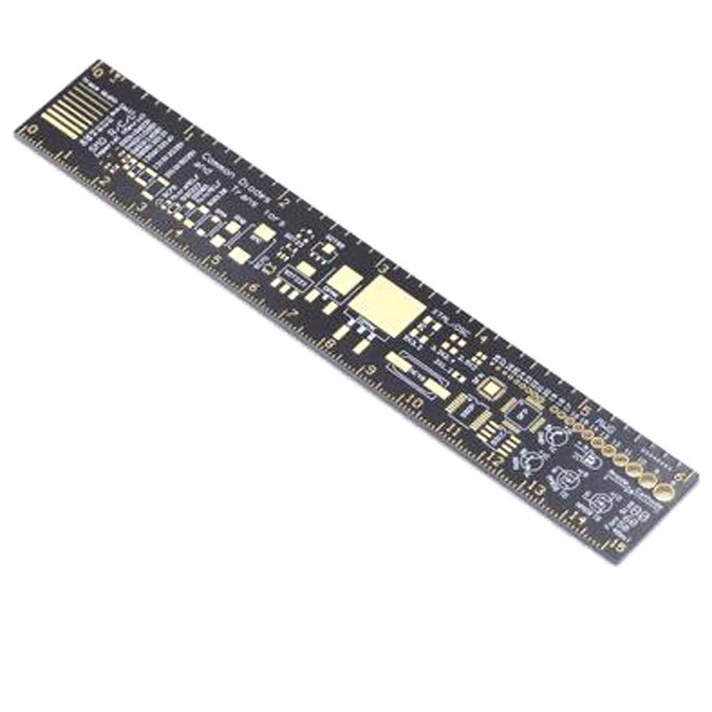 Paquete Del Diodo Del Microprocesador IC SMD Del Condensador Del Resistor De La Regla Del PWB Del 15cm Para Los Ingenieros