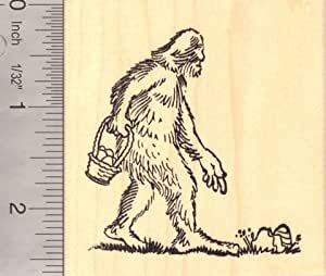Easter egg hunt big foot rubber stamp for Rubber stamps arts and crafts