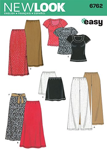 (New Look Sewing Pattern 6762 Misses Separates, Size A (XS-S-M-L-XL))
