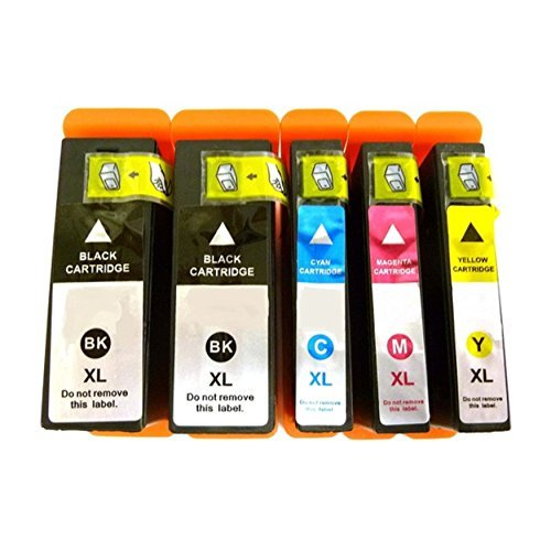 Compatible Set of 5 Pack Dell 31XL Black Cyan Magenta Yellow