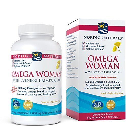 Lemon Woman Naturals Omega Nordic - Nordic Naturals - Omega Woman, Evening Primrose Oil Blend, 120 Soft Gels