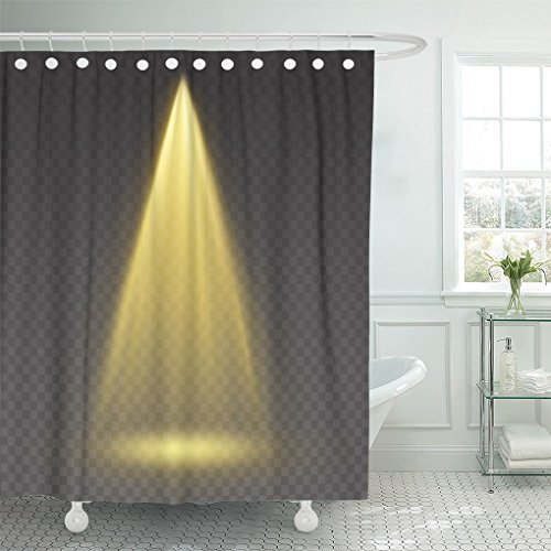AAoAA Waterproof shower curtain Stage Light Ray Bright Yellow Glow Scene Spotlight Effect Shine Vertical Theater Projector Beam for Your bathroom Accessories set 72 x 78 Inches Mildew shower curtains