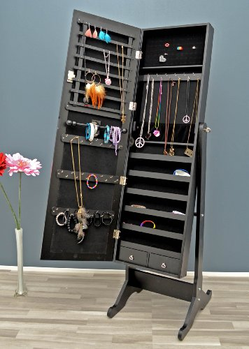 Beautiful miroir range bijoux noir ideas for Achat grand miroir mural