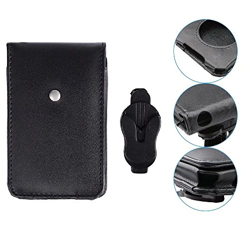 JahyShow Black Leather Case For iPod classic 80G 120G 160GB with Movable Belt Clip