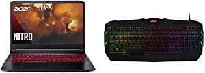 "Acer Nitro 5 Gaming Laptop, AMD Ryzen 5 4600H Hexa-Core Processor, NVIDIA GeForce GTX 1650 Ti, 15.6"" Full HD IPS Display, 8GB DDR4, 256GB with Acer NKB810 Nitro Gaming Keyboard"