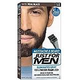 JUST FOR MEN Color Gel Mustache & Beard M-55 Real Black 1 Each (Pack of 18)