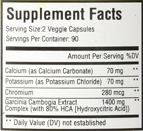 80% HCA Pure Garcinia Cambogia Premium Extract - Best & Highest Potency - All Natural & Safe - 180 Pills - Order Risk Free!