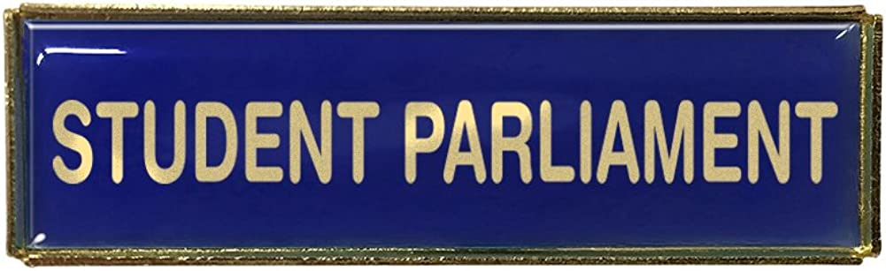 Gold Finish Capricornone Student Parliament Rectangle Polydome Budget Badge