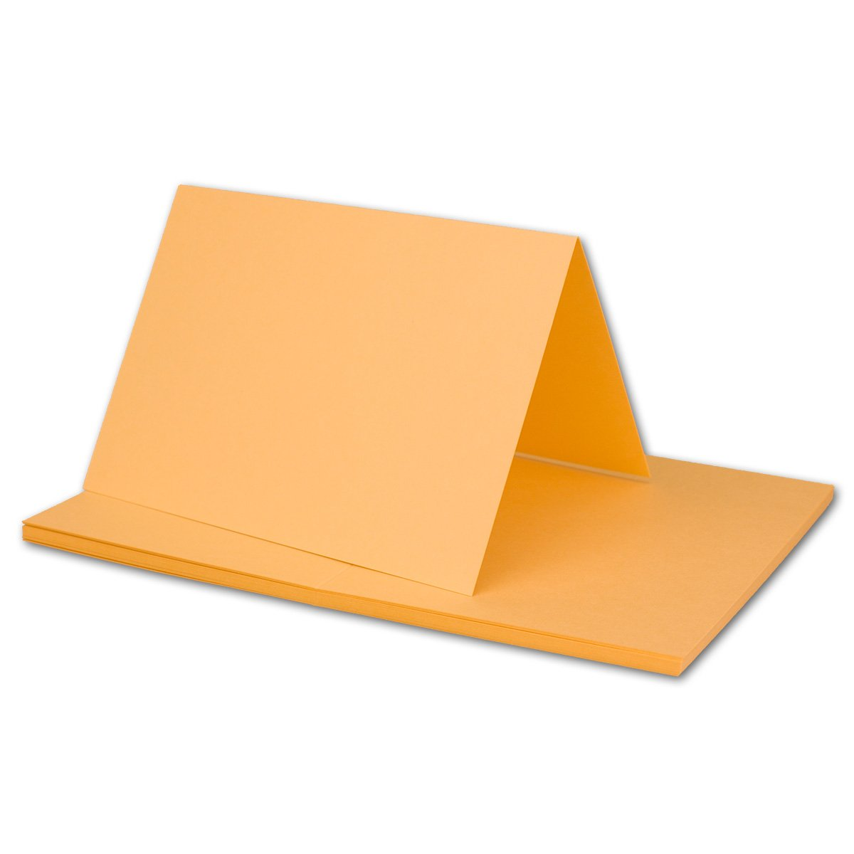 250x Falt-Karten DIN A6 Blanko Doppel-Karten in Hochweiß Kristallweiß -10,5 x 14,8 cm   Premium Qualität   FarbenFroh® B079X25G28 | Erlesene Materialien
