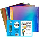 "Craftables Iridescent Vinyl Starter Pack - Chrome Polish Finish Craft Vinyl for Cricut and Silhouette Cameo - (4) 12"" x 12"" sheets"